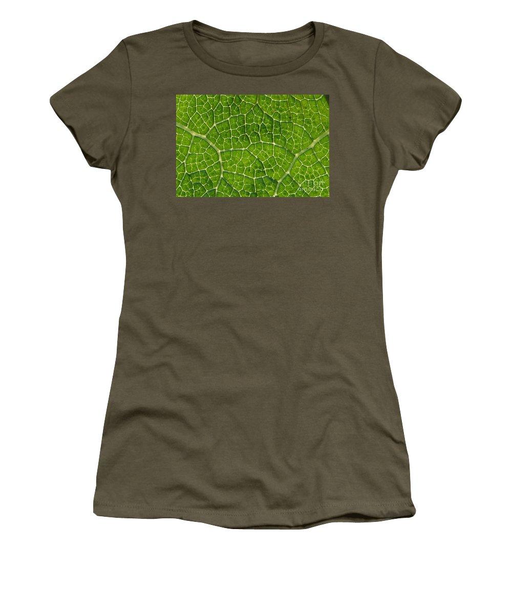 Amaze Women's T-Shirt featuring the photograph Leaf Veins by Greg Vaughn - Printscapes