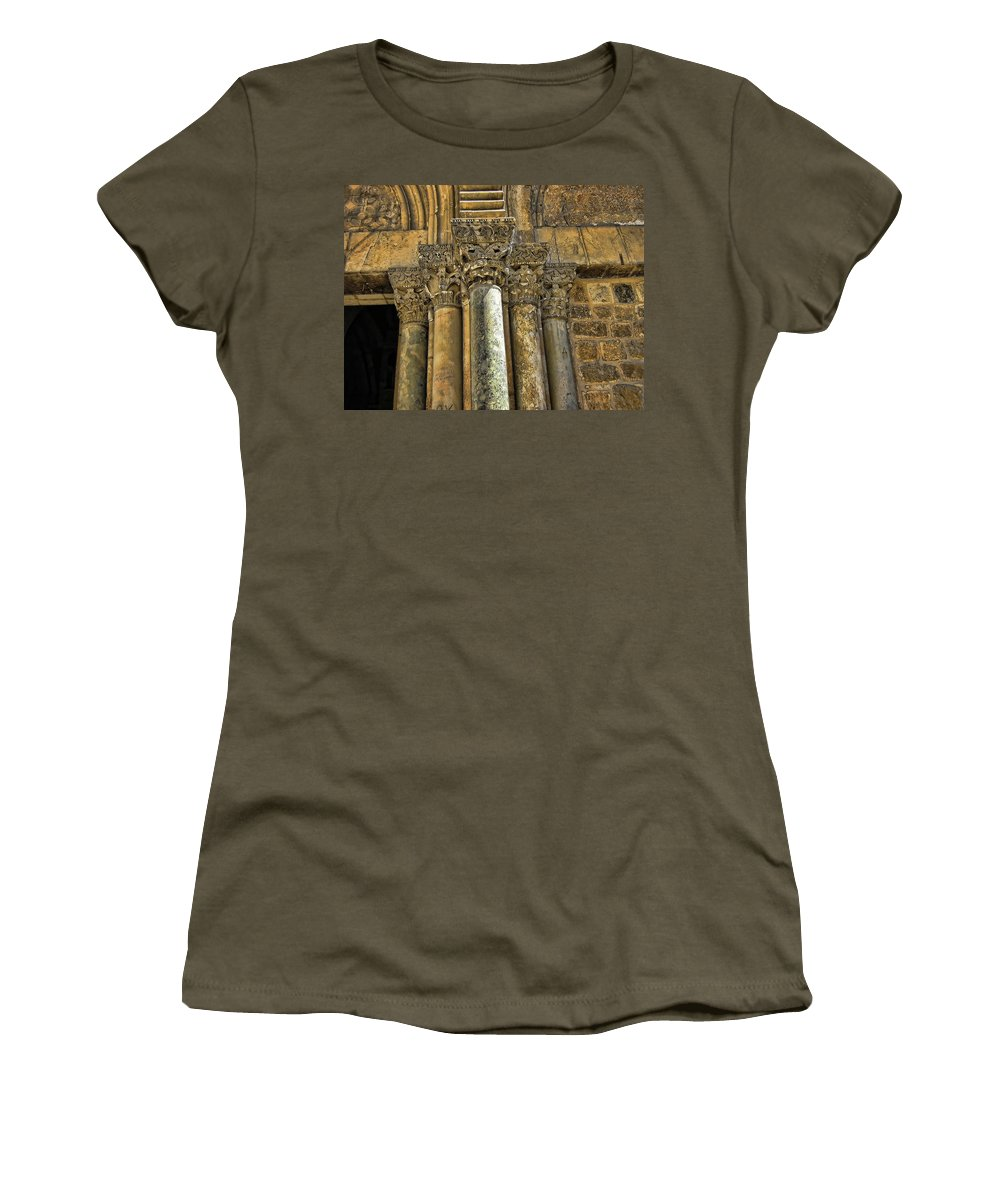 Pillars Women's T-Shirt featuring the photograph Lean On Us by Douglas Barnard