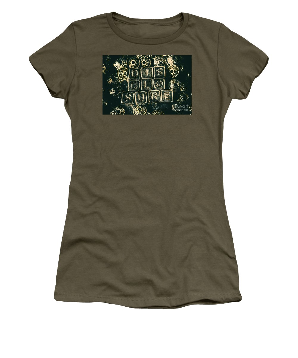 Alien Women's T-Shirt featuring the photograph Learning Blocks Of Disclosure by Jorgo Photography - Wall Art Gallery