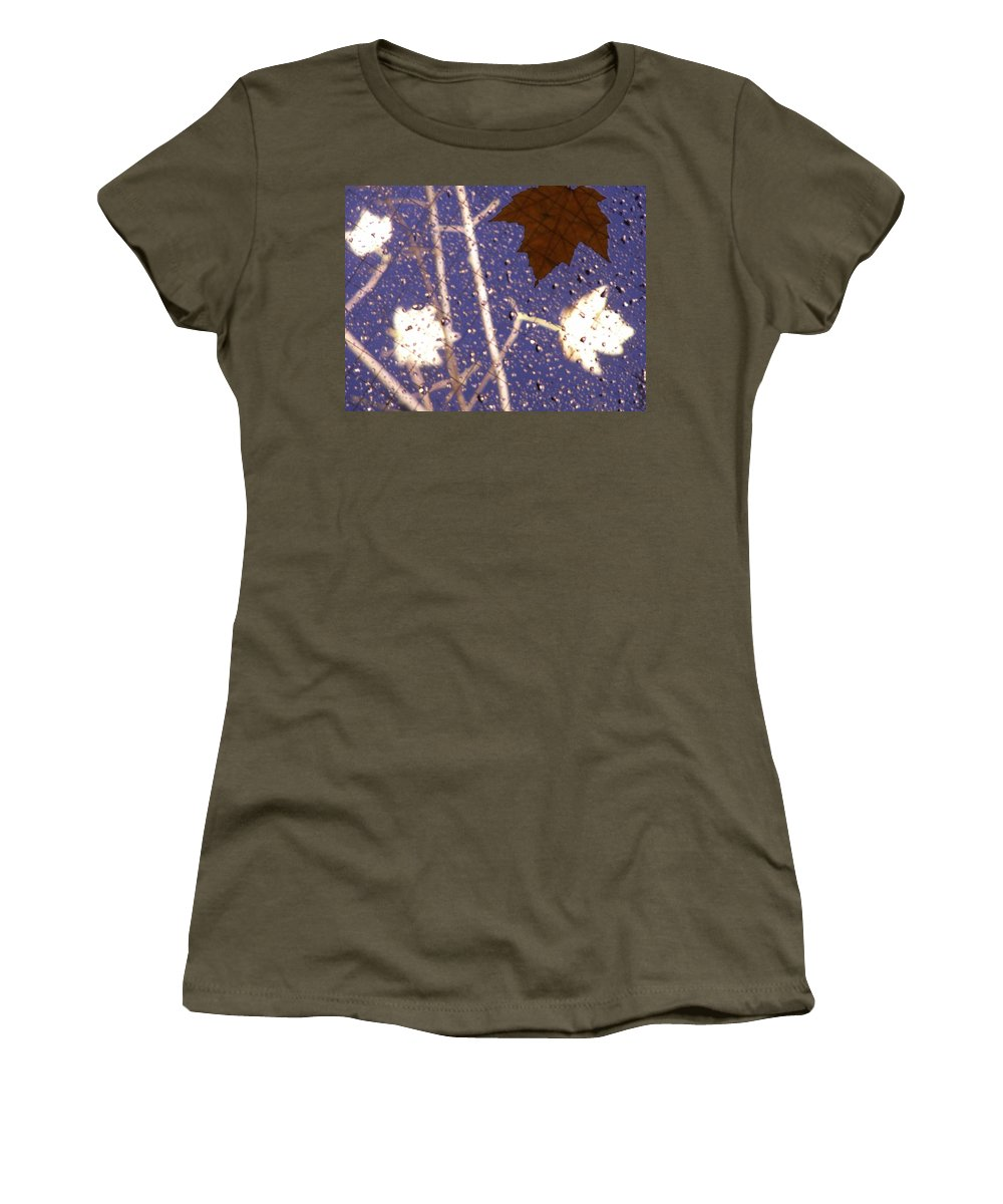 Leaves Women's T-Shirt featuring the photograph Leaves And Rain 2 by Tim Allen