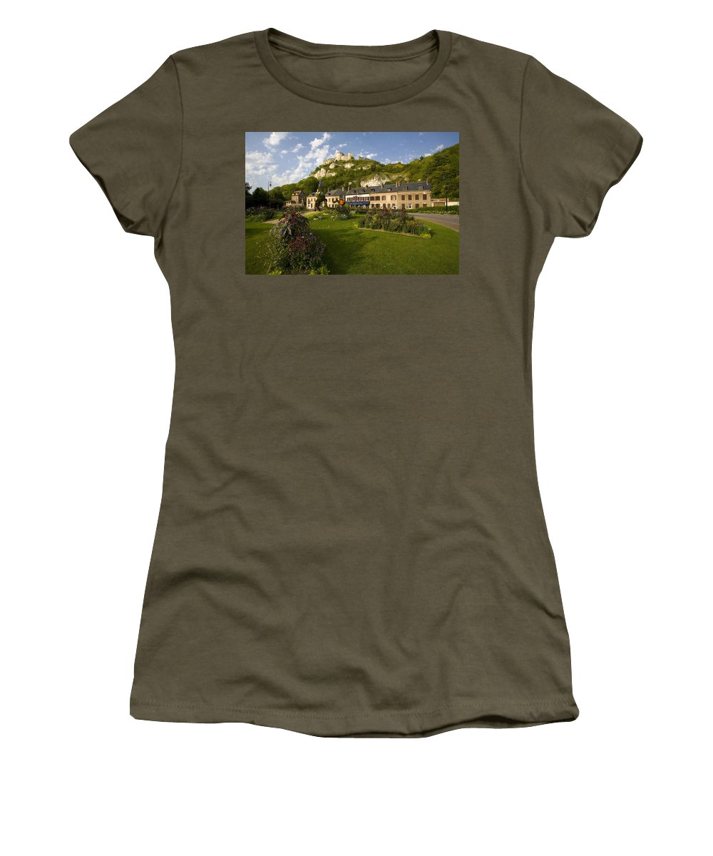 Les Andelys Women's T-Shirt featuring the photograph Les Andelys France by Sheila Smart Fine Art Photography