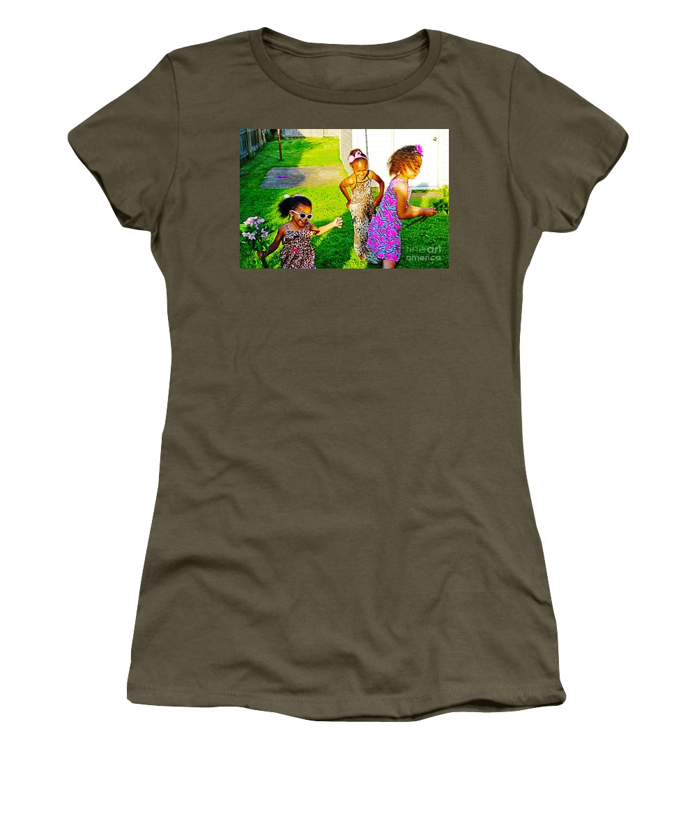 Girls Women's T-Shirt featuring the photograph Let The Good Times Roll 1 by Don Baker
