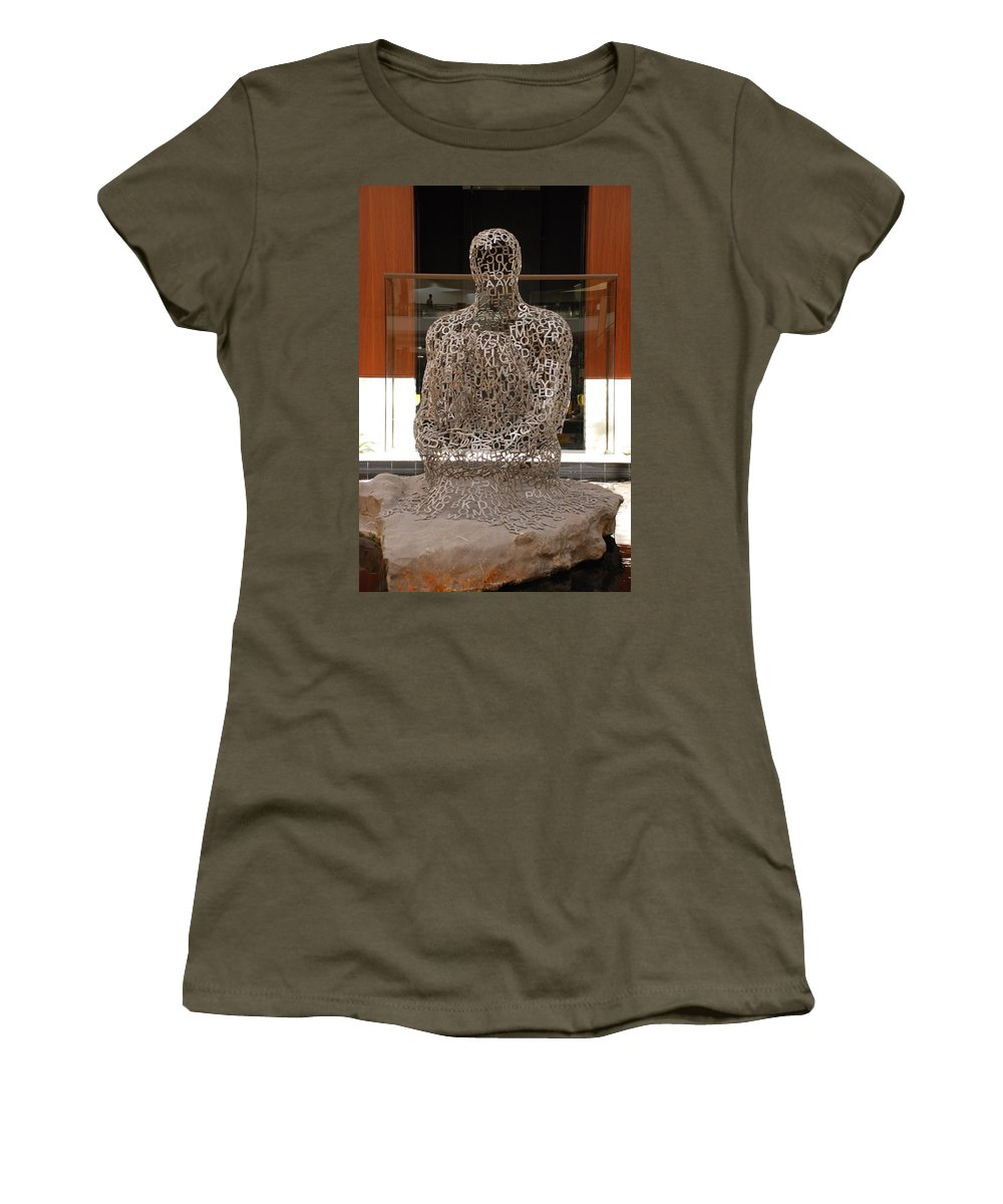 Scultures Women's T-Shirt (Athletic Fit) featuring the photograph Letter Man In Color by Rob Hans