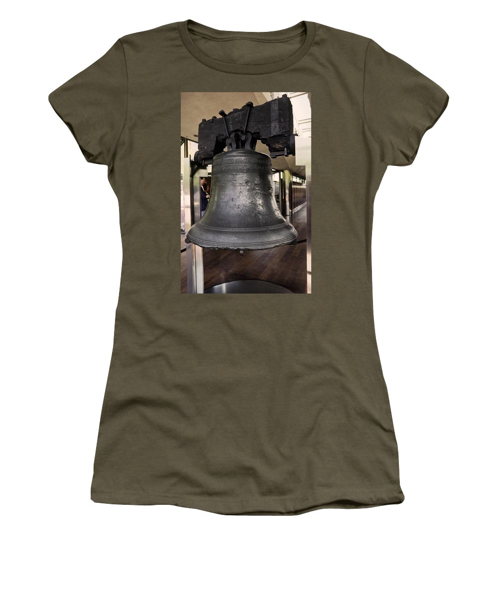 Liberty Bell Women's T-Shirt featuring the photograph Liberty Bell by Sally Weigand