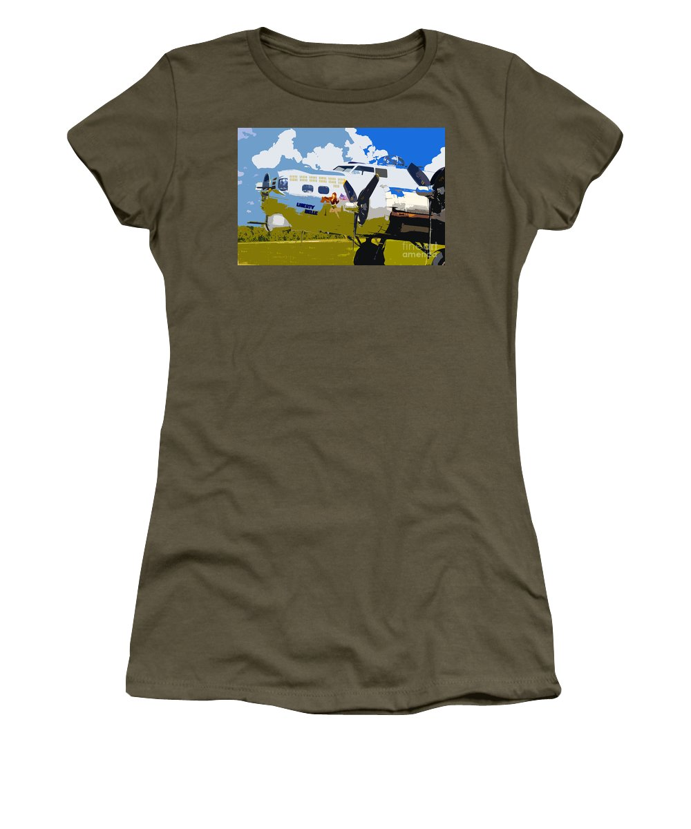 Flying Fortress Women's T-Shirt featuring the photograph Liberty Belle by David Lee Thompson