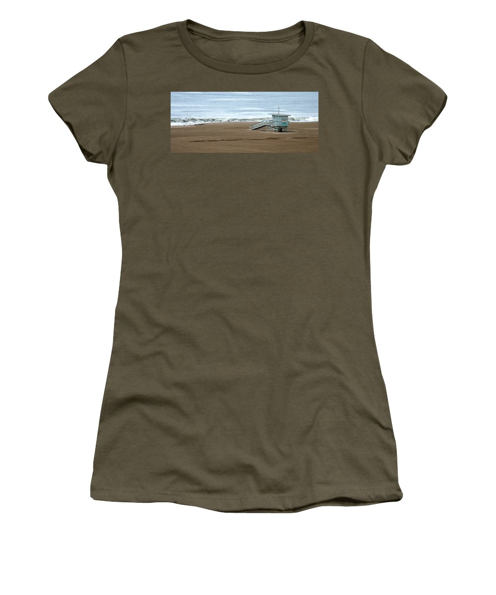 Beach Women's T-Shirt (Athletic Fit) featuring the photograph Life Guard Stand - Color by Shari Chavira