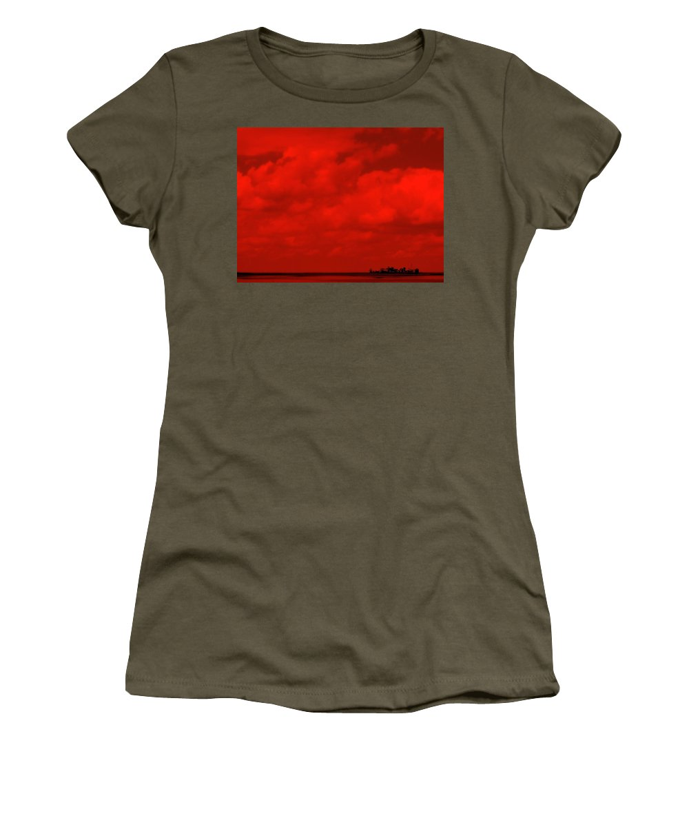 Sky Women's T-Shirt featuring the photograph Life On Mars by Edward Smith