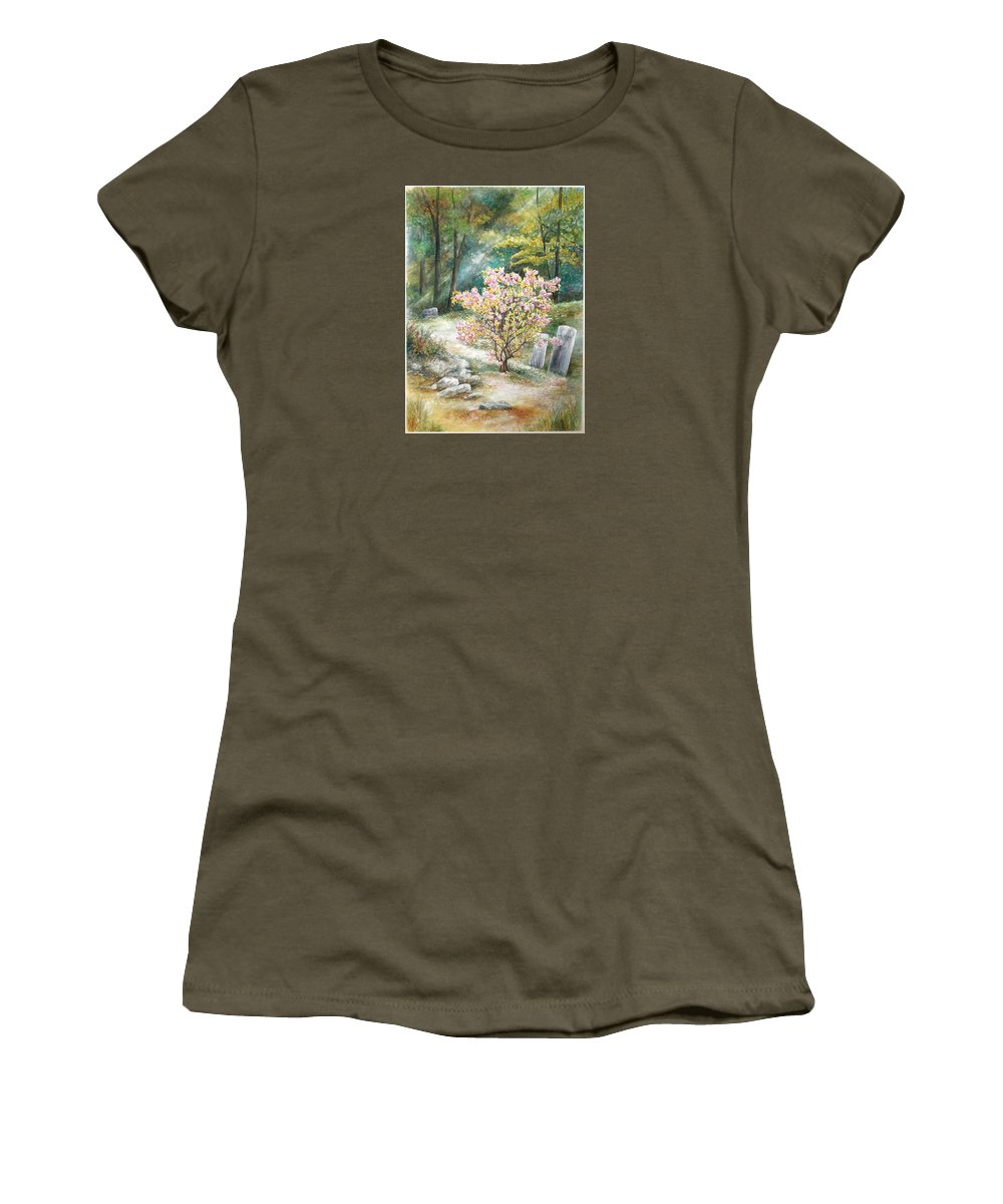 Landscape Women's T-Shirt featuring the painting Life by Valerie Meotti