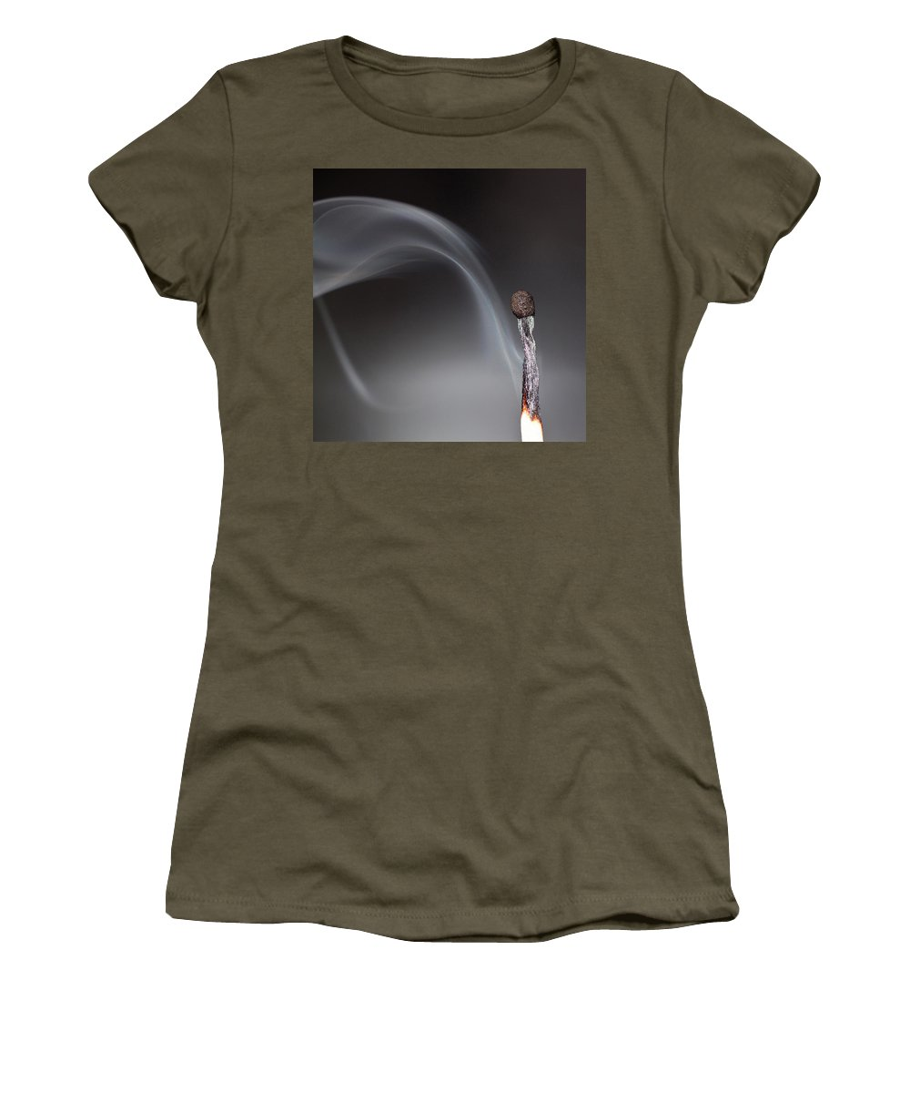Smoke Women's T-Shirt (Athletic Fit) featuring the photograph Light Is Fragile by Jorn Van Hezik