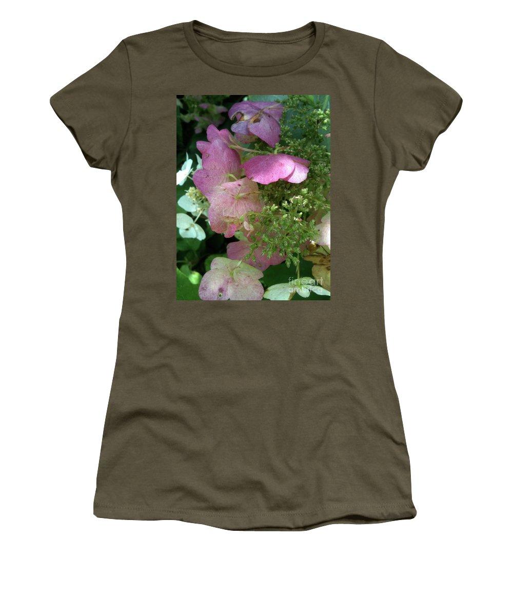 Bandon Beach Women's T-Shirt featuring the photograph Light Pink by Trish Hale