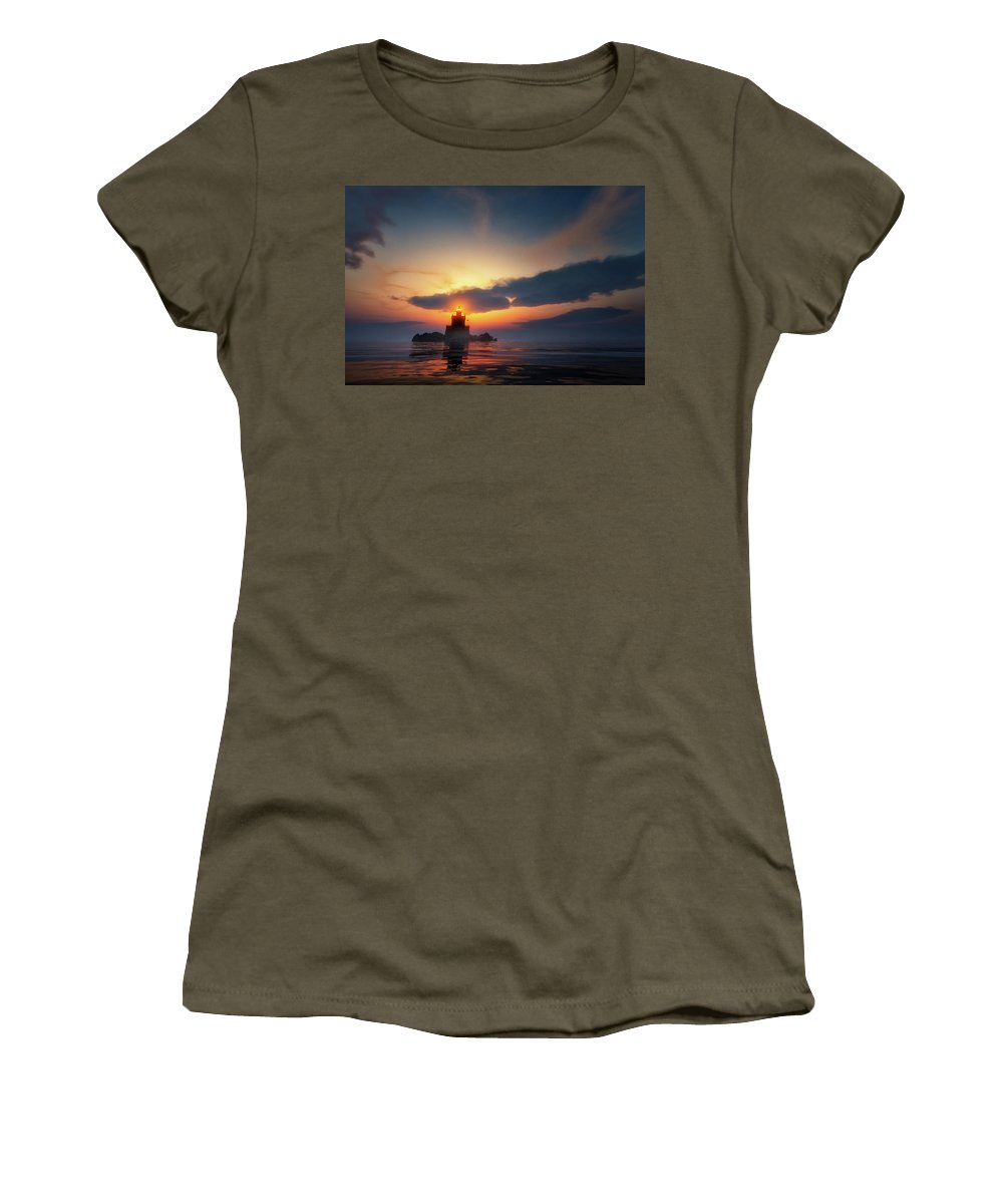 Lighthouse Women's T-Shirt (Athletic Fit) featuring the photograph Lighthouse by Andreas Hoops