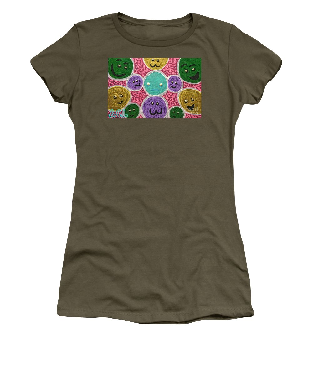 Tribal Women's T-Shirt featuring the painting Like No Other by Alexander Ladd