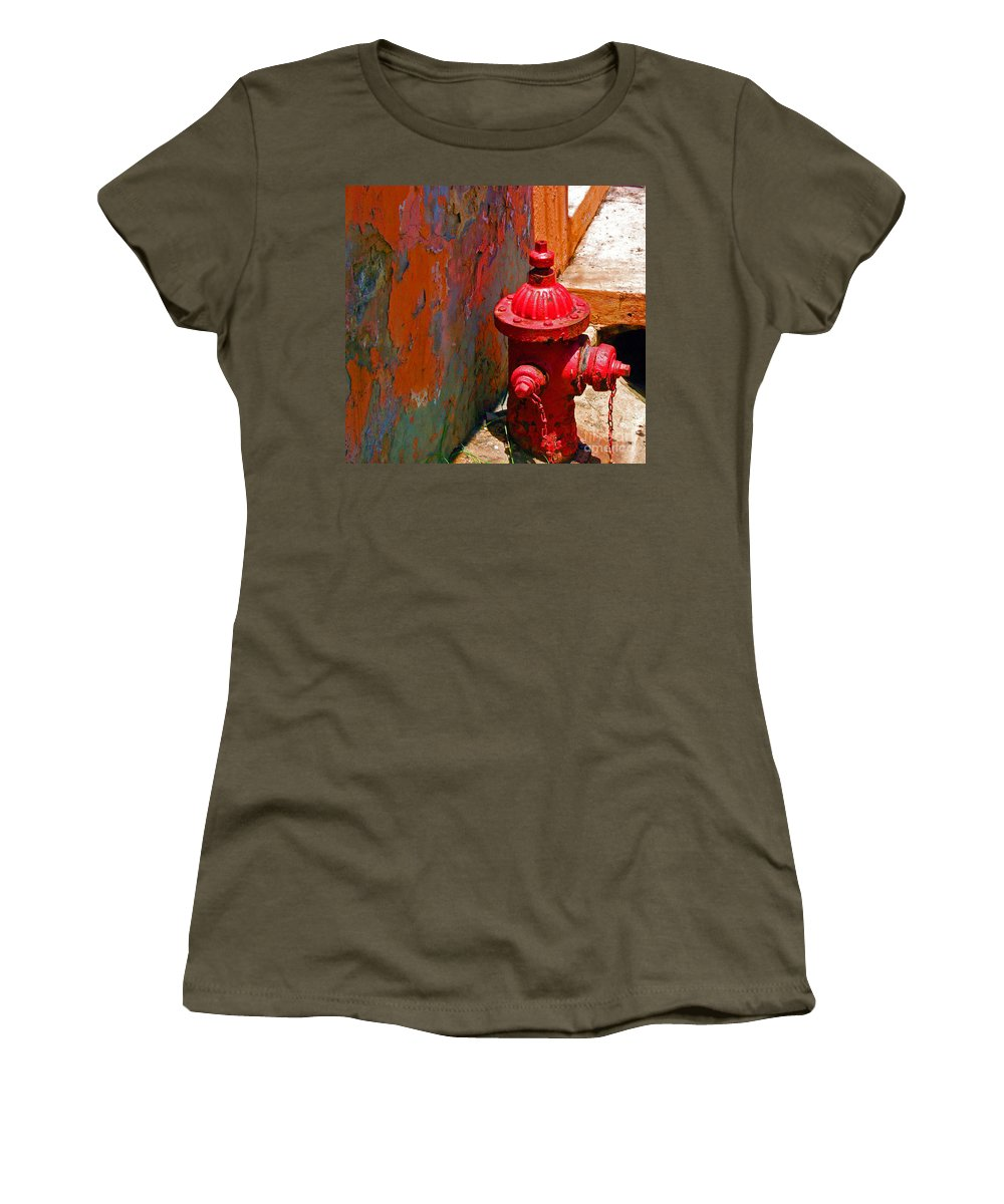 Red Women's T-Shirt featuring the photograph Lil Red by Debbi Granruth