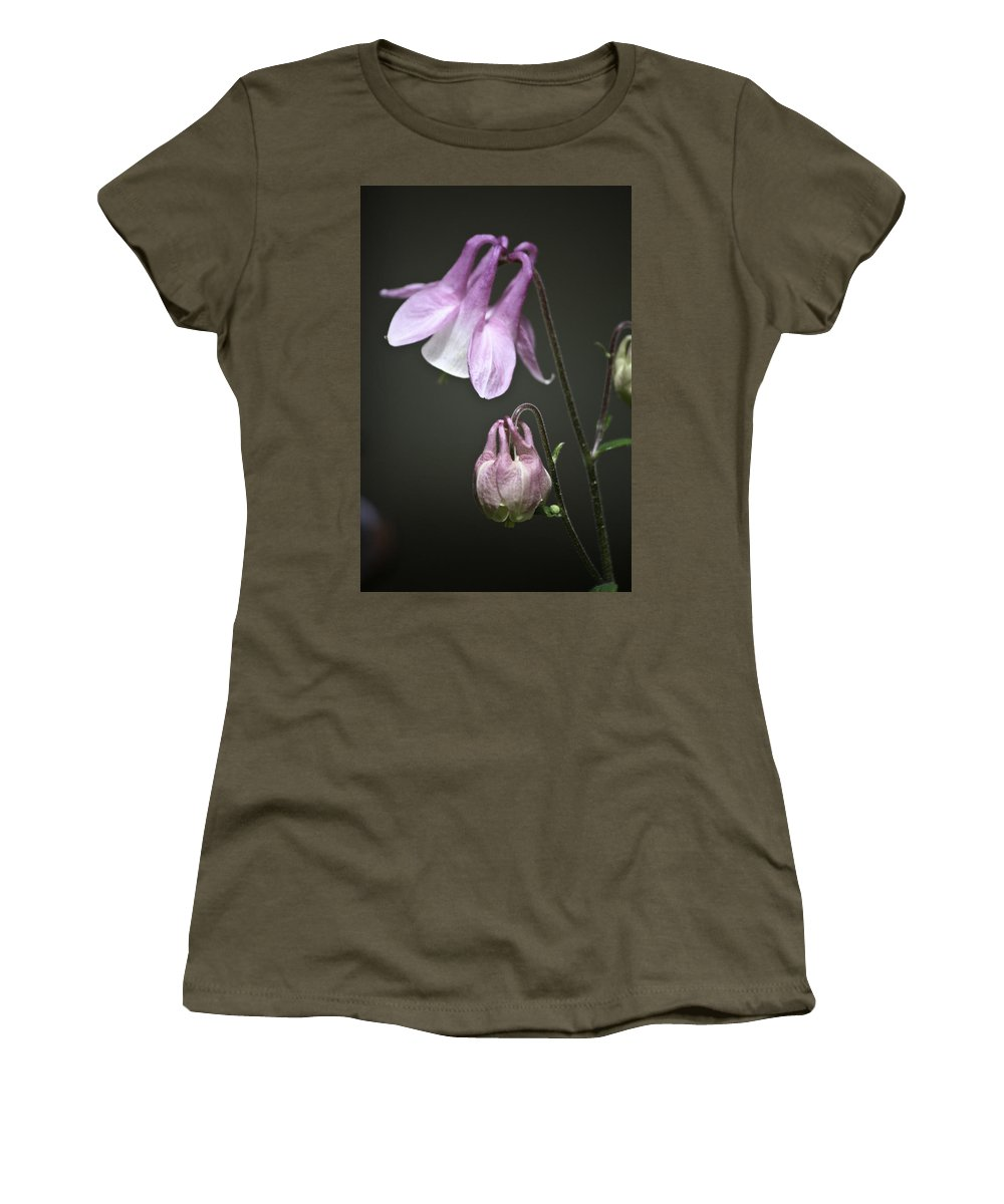 Columbine Women's T-Shirt featuring the photograph Lilac Columbine 3 by Teresa Mucha