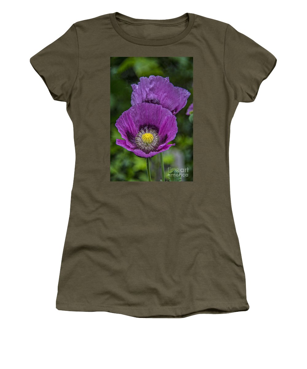 Poppy Women's T-Shirt featuring the photograph Lilac Poppy by Chris Thaxter