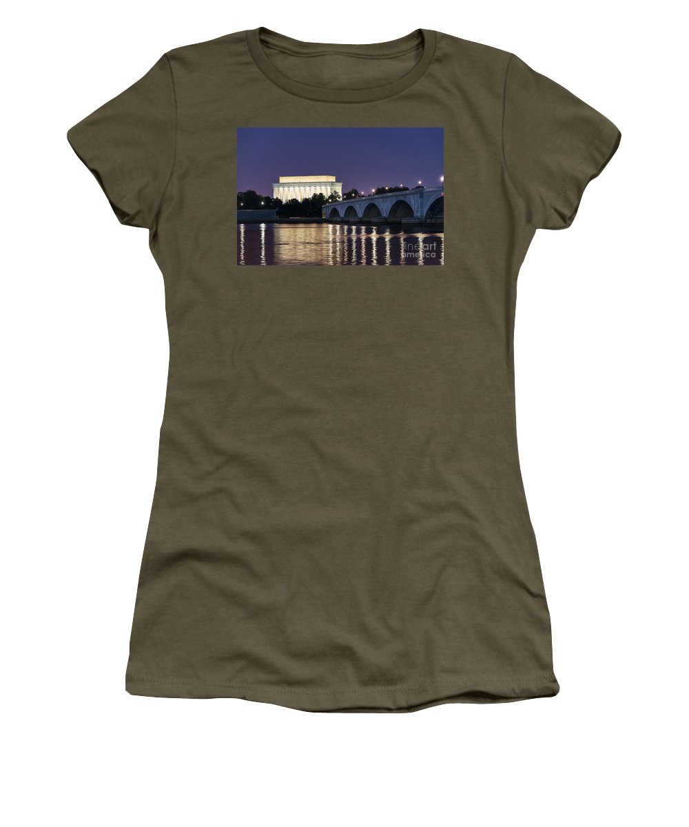 America Women's T-Shirt featuring the photograph Lincoln Memorial by John Greim