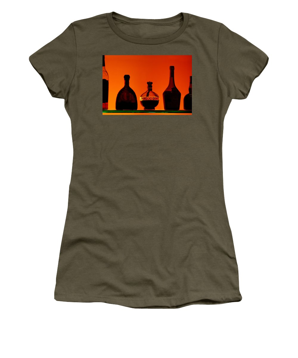 Still Life Women's T-Shirt (Athletic Fit) featuring the photograph Liquor Still Life by Jill Reger