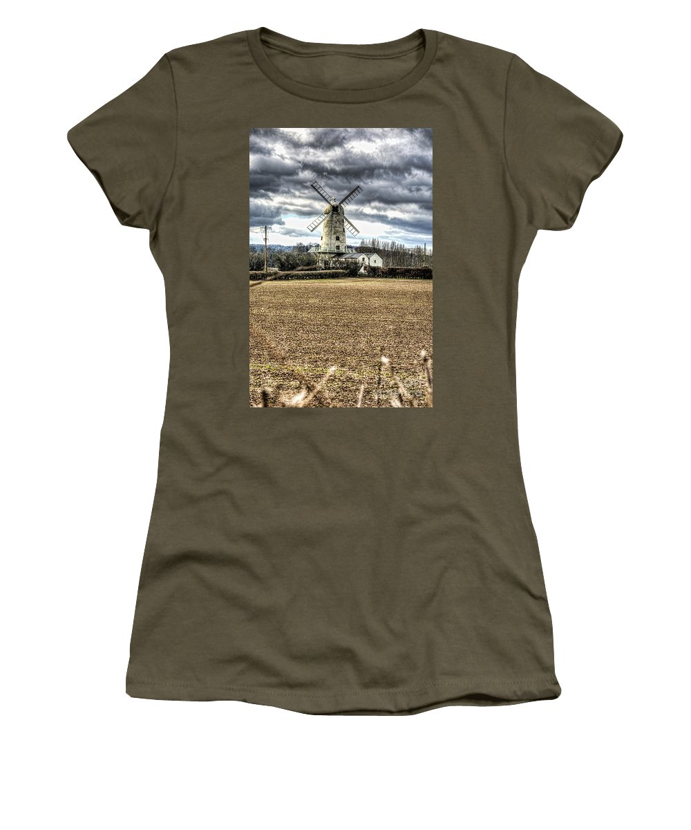Llancayo Mill Women's T-Shirt (Athletic Fit) featuring the photograph Llancayo Mill Usk 2 by Steve Purnell