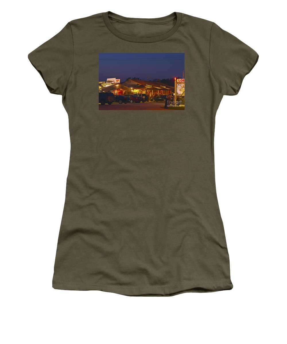 Cape Cod Women's T-Shirt featuring the photograph Lobster Pound. by John Greim