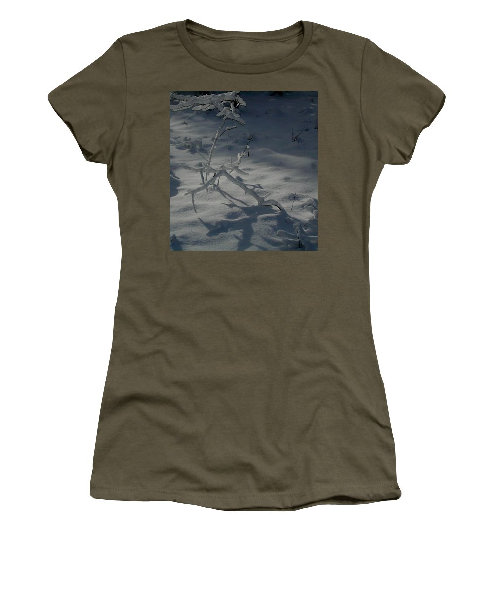 Loneliness Women's T-Shirt featuring the photograph Loneliness In The Cold by Douglas Barnett
