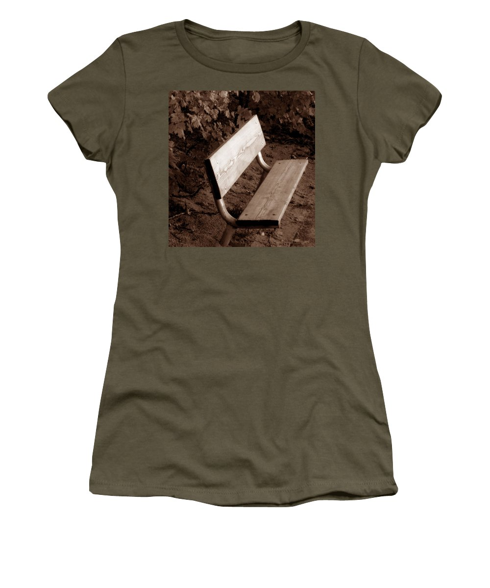 Lonliness Women's T-Shirt (Athletic Fit) featuring the photograph Lonely by Wayne Potrafka
