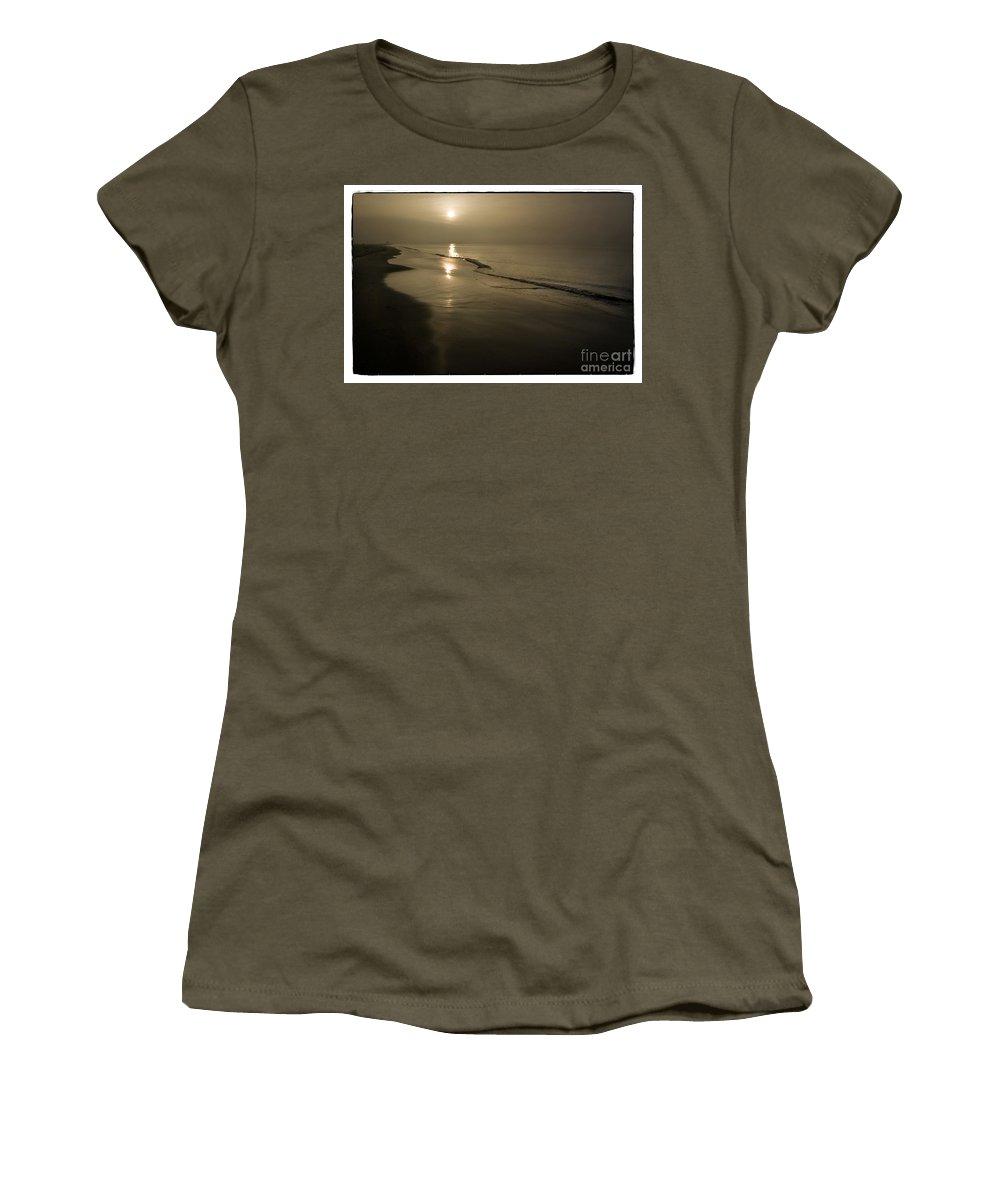 Long Beach Women's T-Shirt featuring the photograph Long Beach Gold by Michael Ziegler