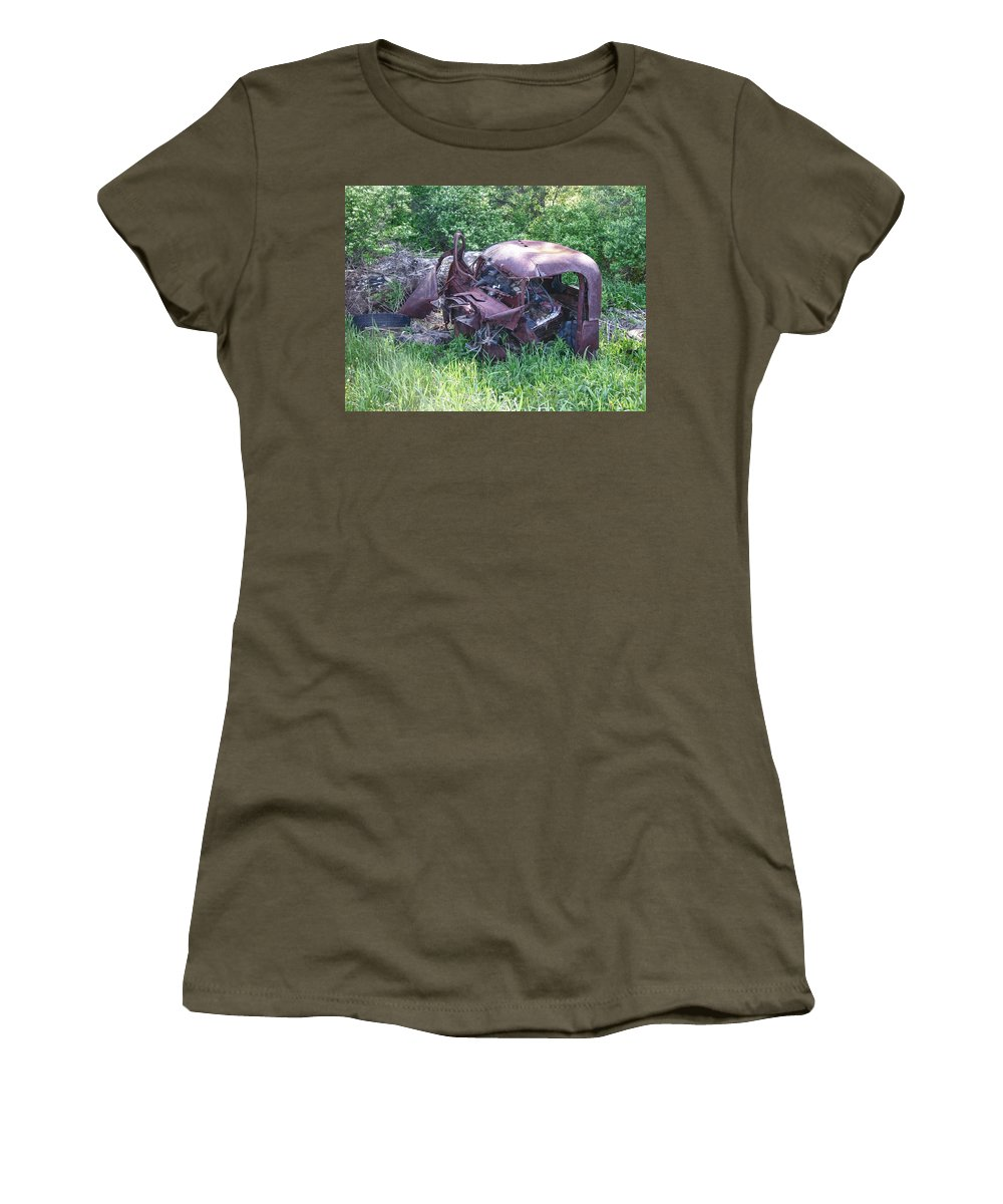 Automobile Women's T-Shirt featuring the photograph Long Forgotten 2808 by Guy Whiteley