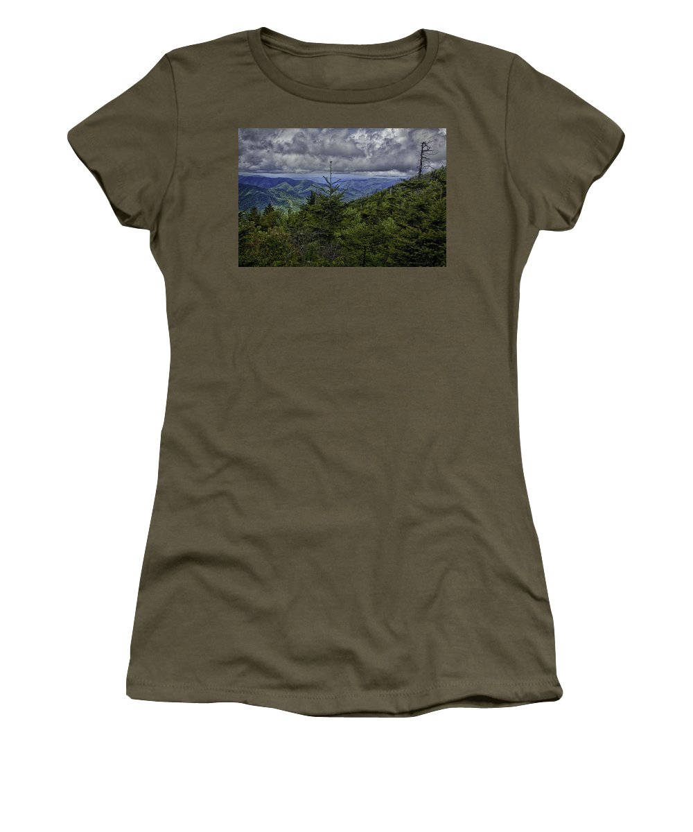 Magnolia Women's T-Shirt featuring the photograph Long Misty Days by Michael J Samuels