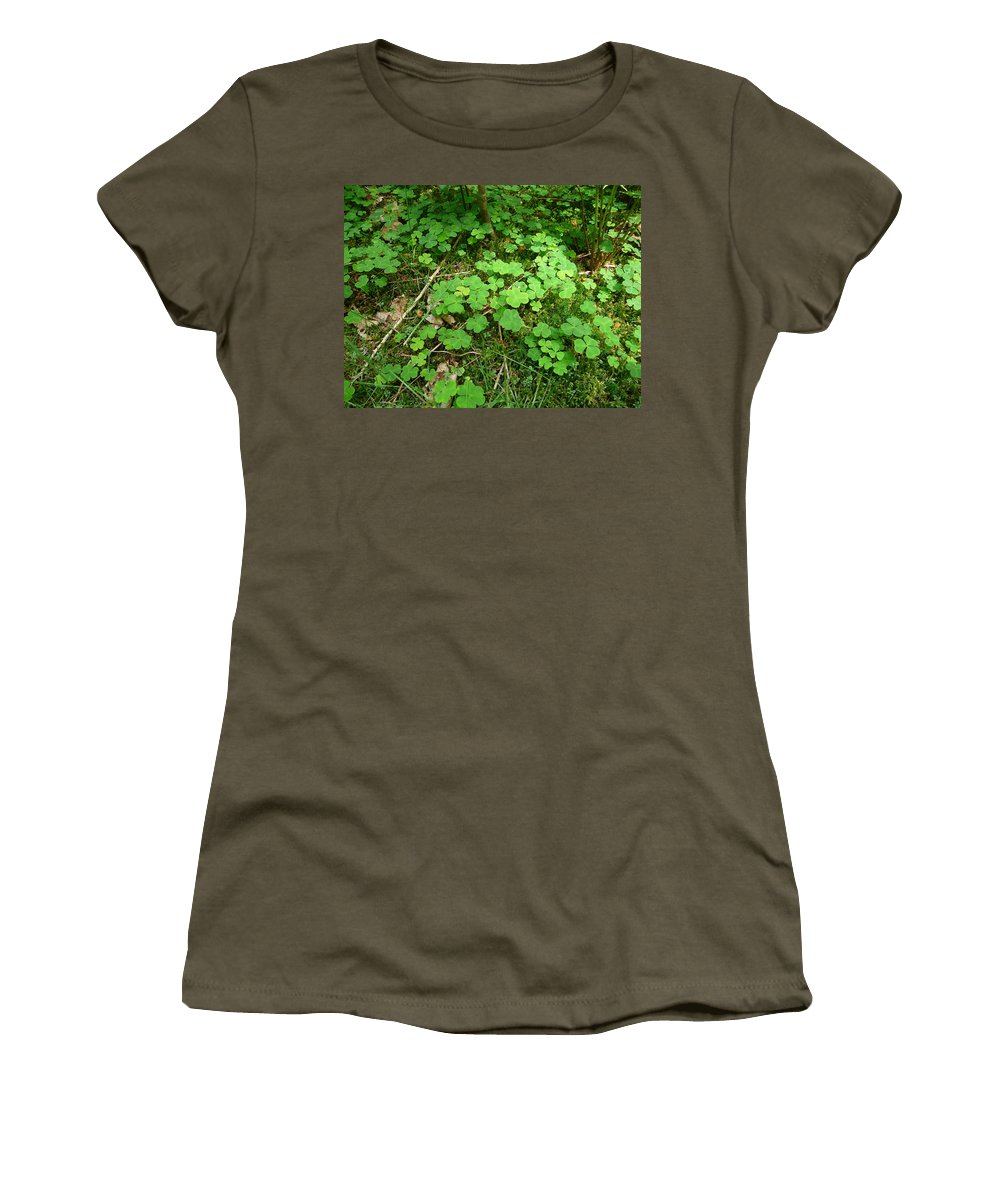 Clover Women's T-Shirt featuring the photograph Looking For A Four-leaf Clover by Valerie Ornstein