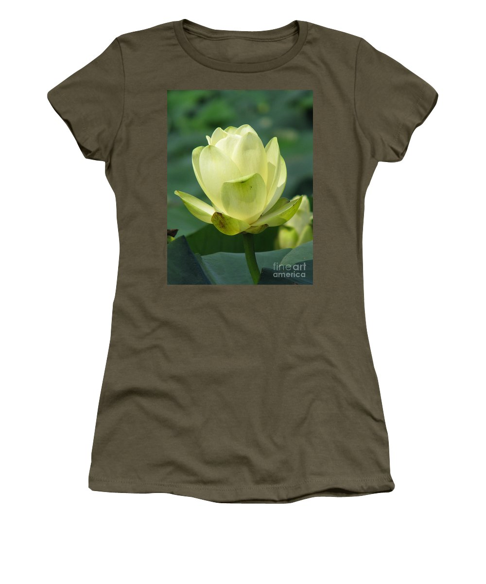 Lotus Women's T-Shirt featuring the photograph Lotus by Amanda Barcon