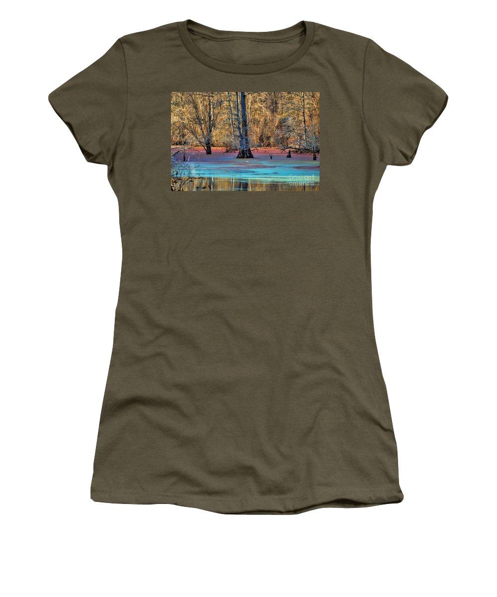 Landscape Women's T-Shirt featuring the photograph Louisiana Bayou by Diana Mary Sharpton