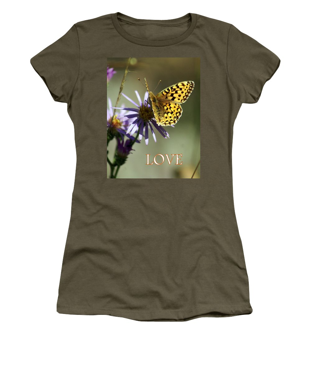 Love Women's T-Shirt featuring the greeting card Love 1 by Marty Koch