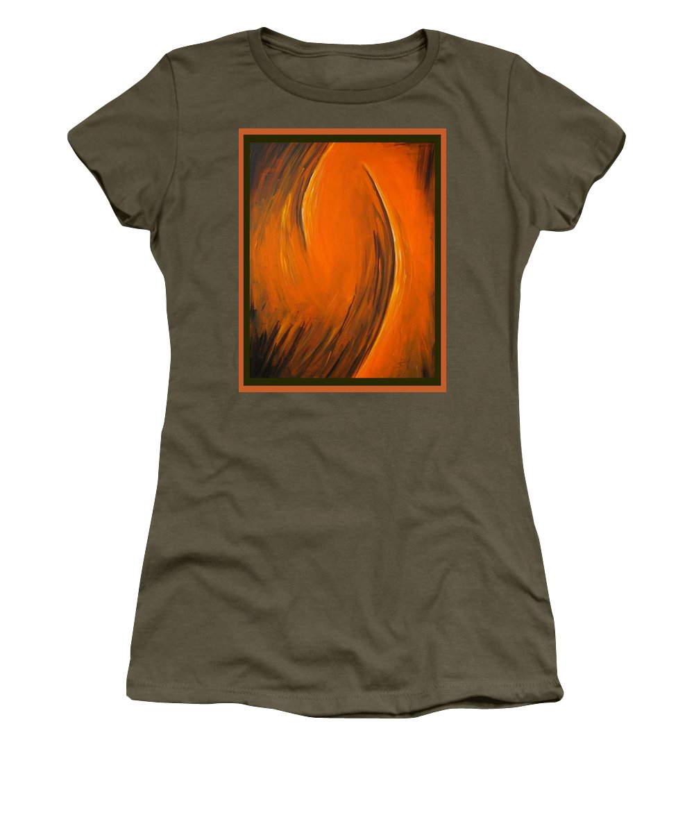 Abstraction Women's T-Shirt featuring the painting Love by Dragica Micki Fortuna