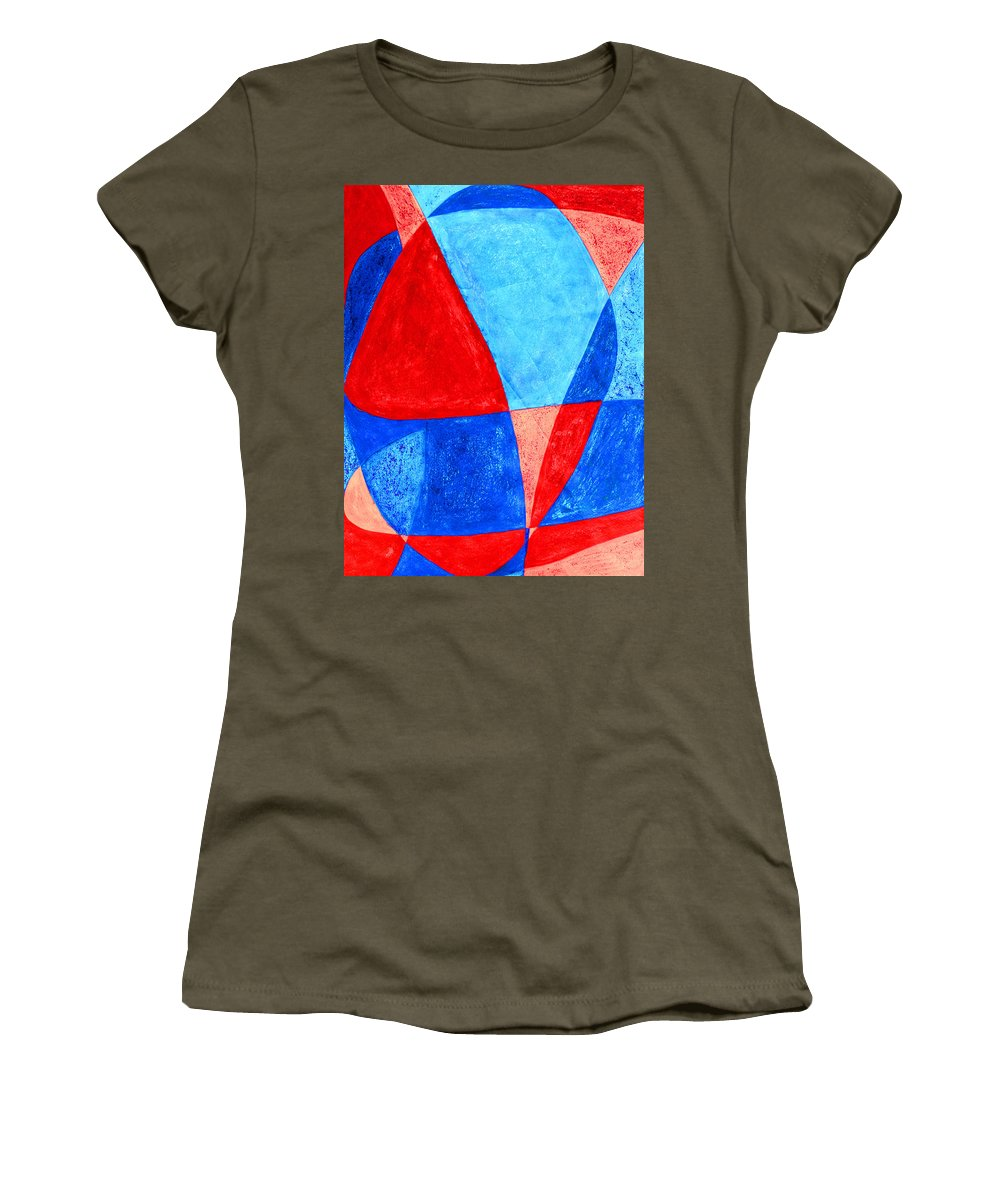 Abstract Women's T-Shirt featuring the painting Love In Abstract Word Art by Lee Serenethos