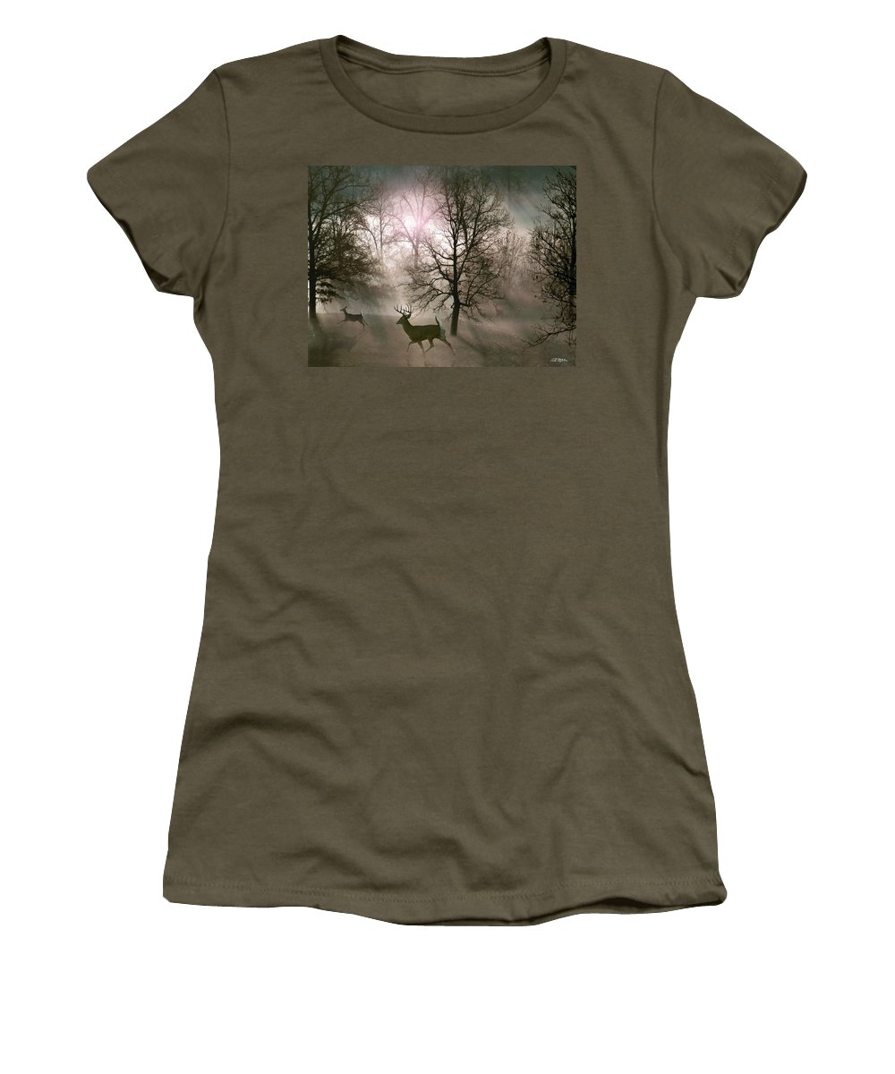 Wildlife Women's T-Shirt featuring the digital art Love In The Wild by Bill Stephens