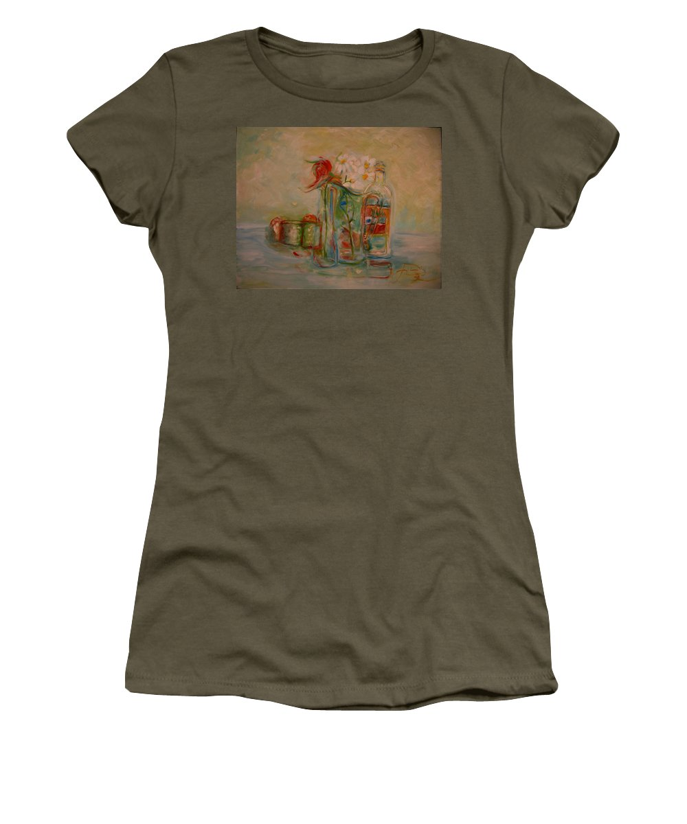 Rose Women's T-Shirt (Athletic Fit) featuring the painting Lovers Picnic by Jack Diamond