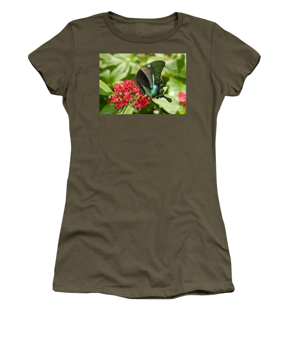 Luminescence Women's T-Shirt (Athletic Fit) featuring the photograph Luminescence by David Lee Thompson