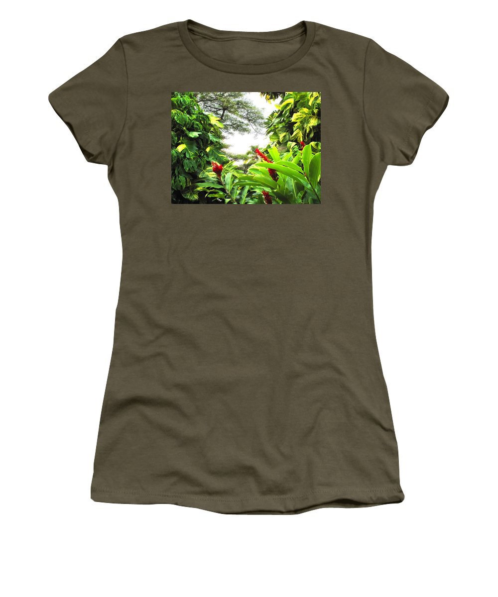 St Kitts Women's T-Shirt (Athletic Fit) featuring the photograph Lush by Ian MacDonald