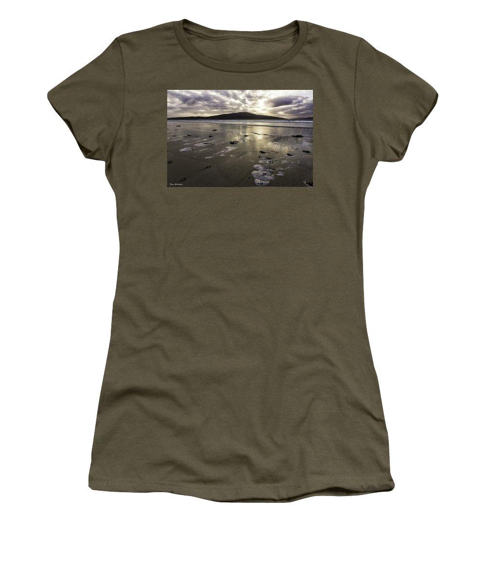 Sunset Women's T-Shirt featuring the photograph Luskentyre Beach Sunset by Fran Gallogly