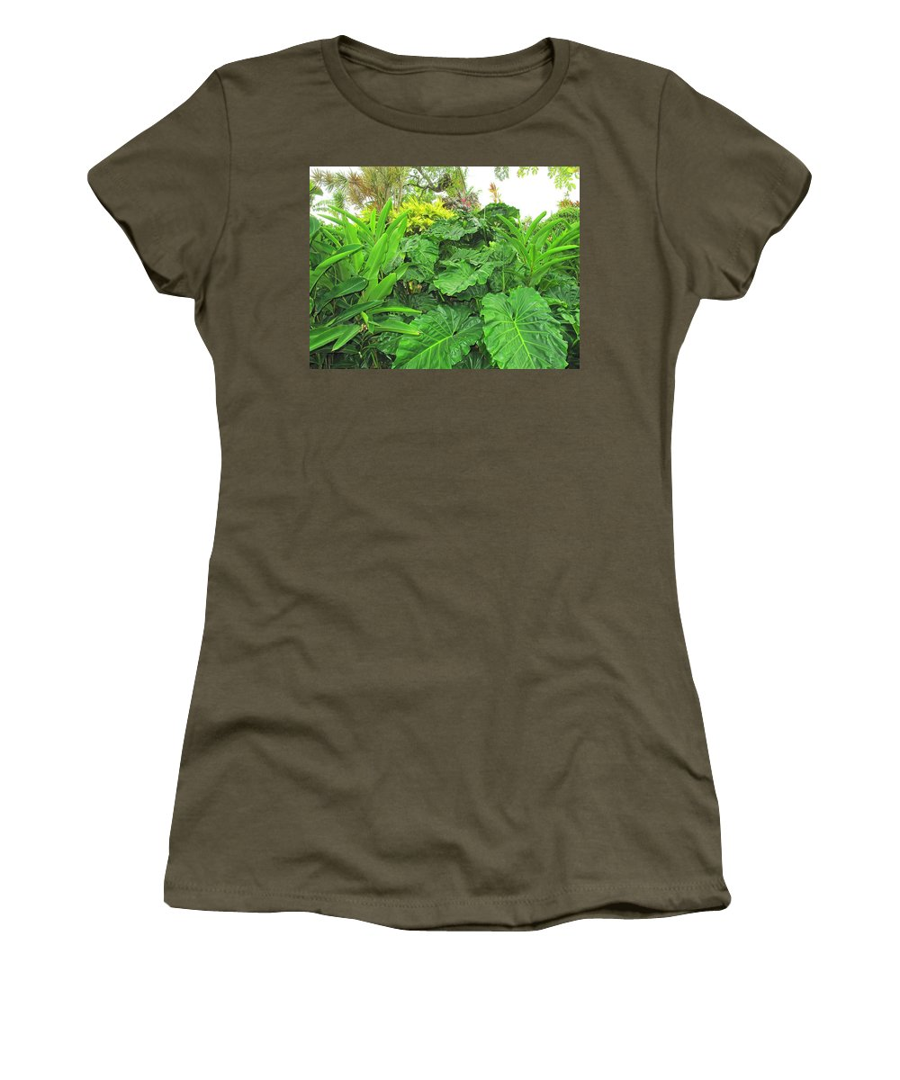 Vegetation Women's T-Shirt (Athletic Fit) featuring the photograph Lust Too by Ian MacDonald