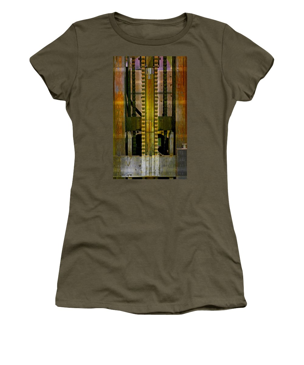 Texture Women's T-Shirt (Athletic Fit) featuring the photograph Machina by Skip Hunt