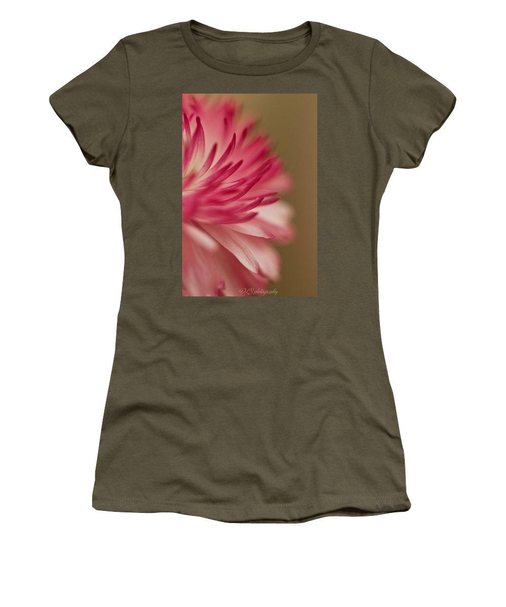 Flower Women's T-Shirt featuring the photograph Macro - Pink Flower by Danielle Silveira