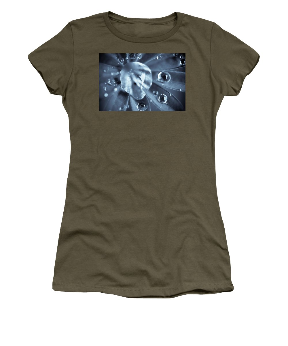 Dew Women's T-Shirt featuring the photograph Macro - Water Drops by Danielle Silveira