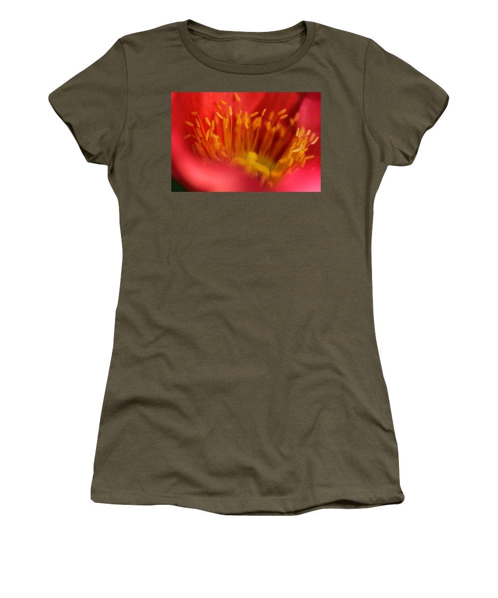 Poppy Women's T-Shirt featuring the photograph Macro Poppy 4 by Mo Barton