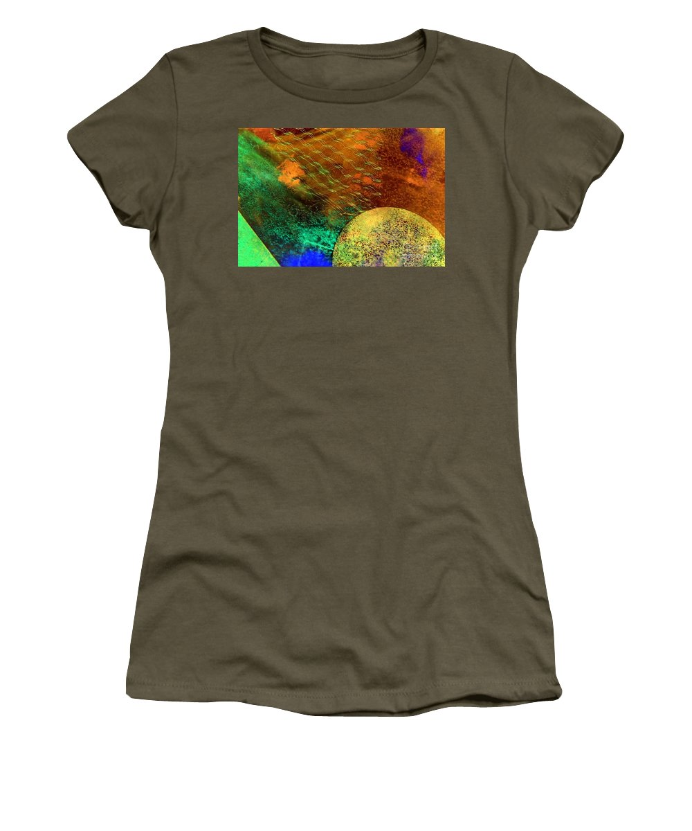 Mad Mad World Women's T-Shirt featuring the painting Mad Mad World by Dawn Hough Sebaugh