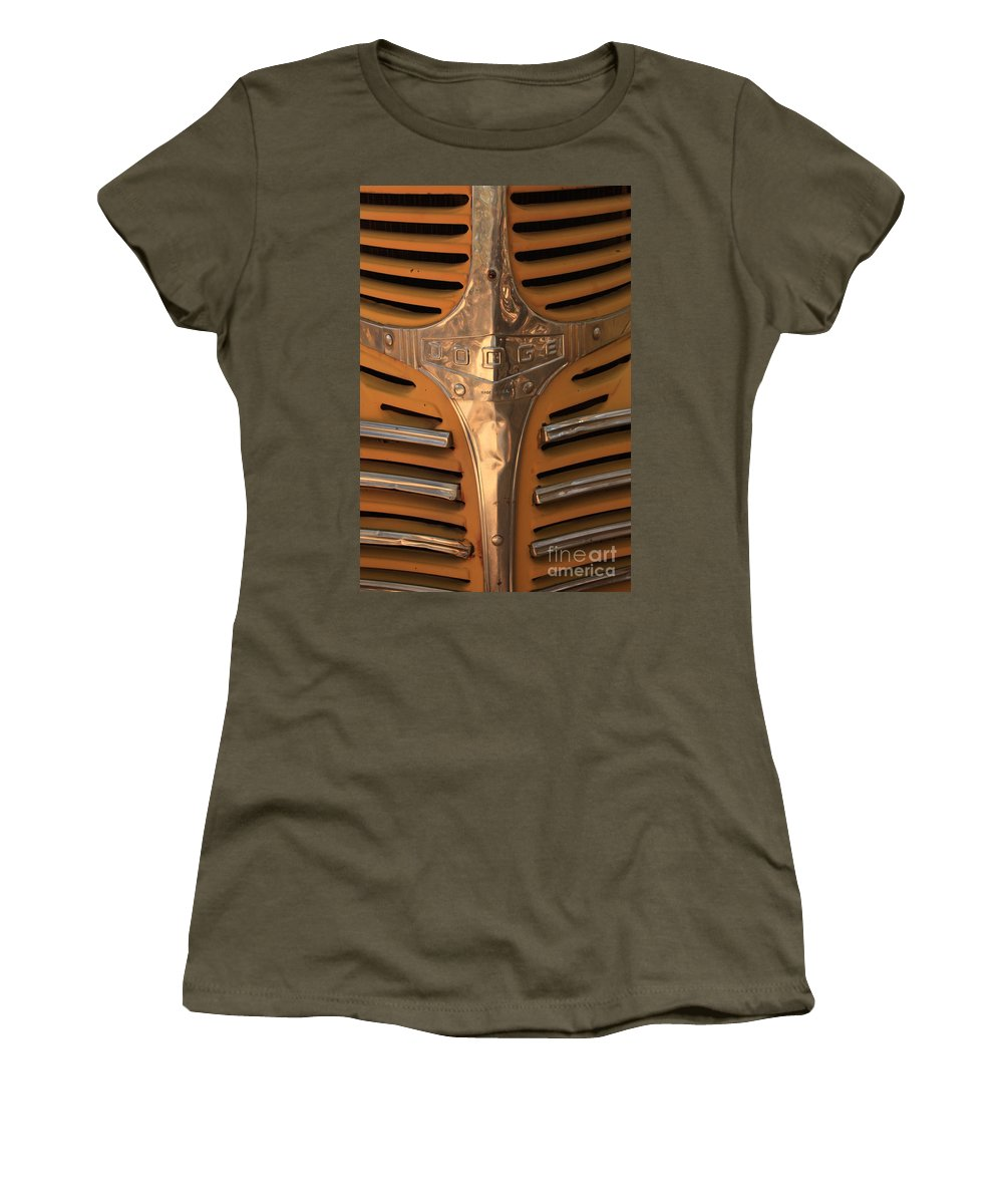 Dodge Women's T-Shirt featuring the photograph Made In Usa by Carol Groenen