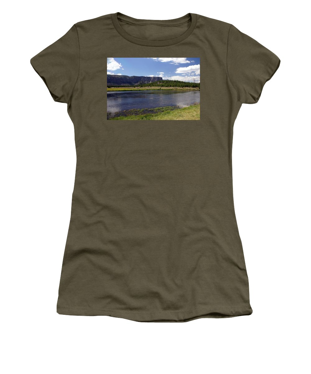 Madison River Women's T-Shirt featuring the photograph Madison River Valley by Marty Koch