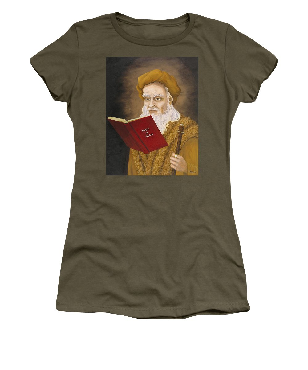 Magic Women's T-Shirt (Athletic Fit) featuring the painting Magic Of Alton by Roz Eve