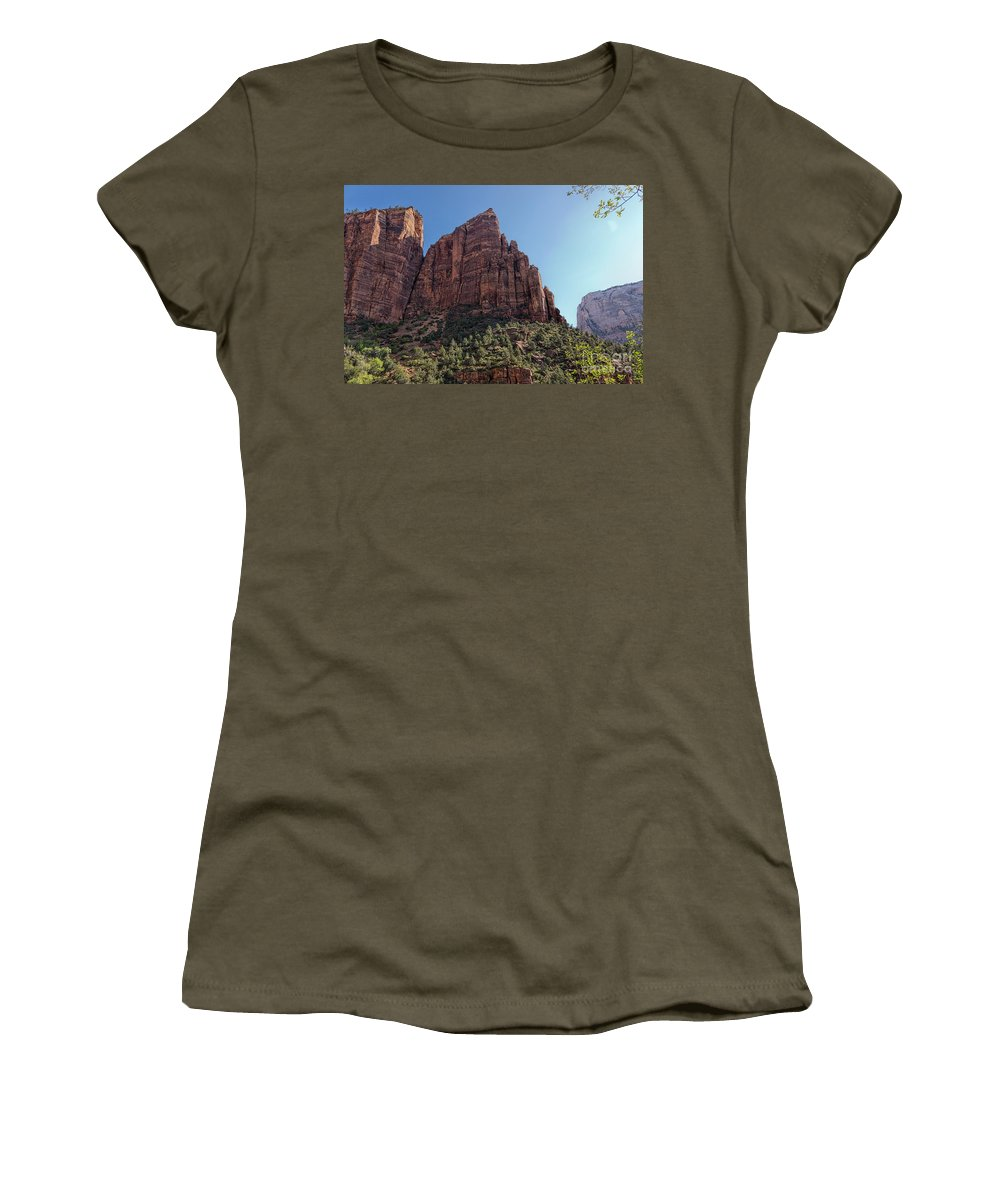 Utah Women's T-Shirt featuring the photograph Majestic Peaks by Peggy Hughes