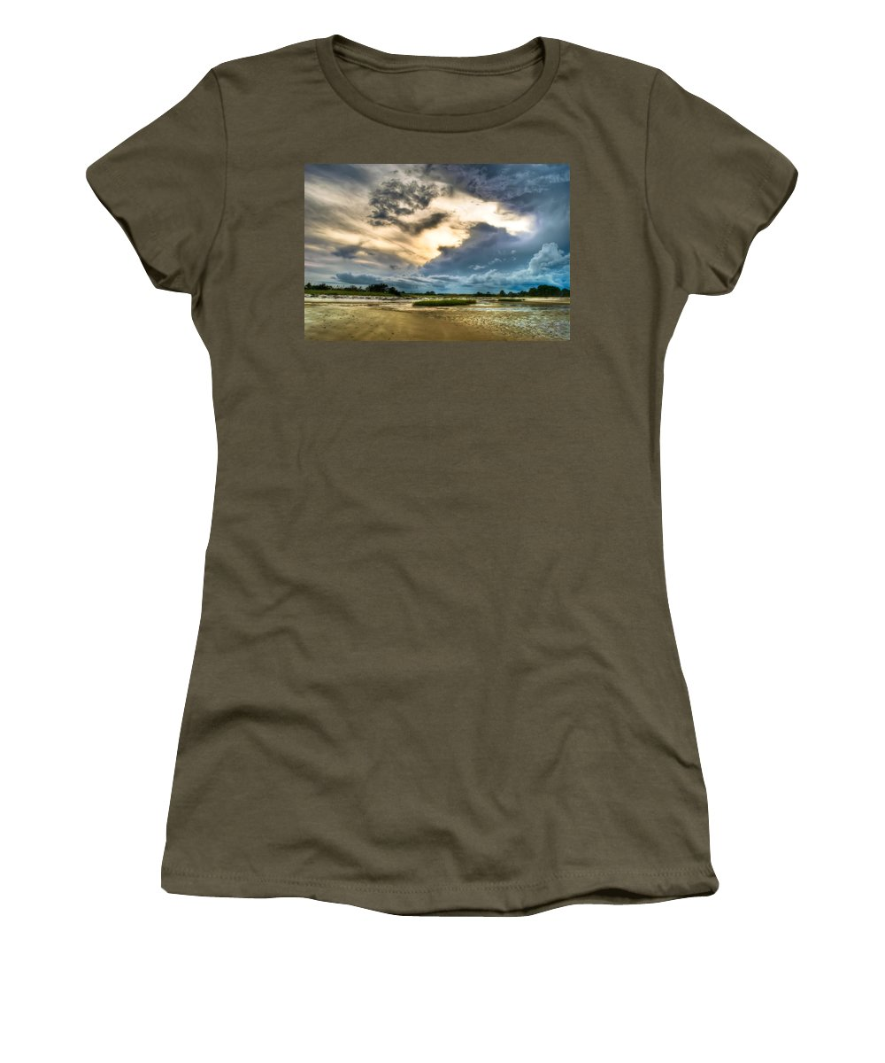 Beach Women's T-Shirt featuring the photograph Majestic Sky by Rich Leighton